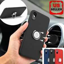 Shockproof Ring Stand Holder Car Vent Mount Hard TPU Case Cover For iphone X New