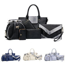Classic Fashion Women's Handbag Shoulder Bags Totes Messenger Bag Purse 6pcs/Set