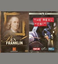 BEN FRANKLIN - History Channel 2004 / The REAL CSI - Frontline PBS 2012 NEW DVD