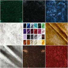 """Crushed Velvet 100% Polyester Upholstery Fabric 54"""" Sold By The Yard"""