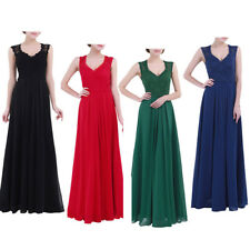 Women Long Maxi Dress Cocktail Evening Bridesmaid Party Formal Wedding Prom GOWN