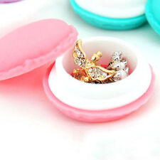 Storage Boxes Cute Mini Macarons Candy Color Jewelry Earring Box Outing Gift RTC