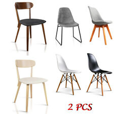 2 PCS Modern Dining Chairs Unique Design Office Cafe Lounge Padded Seat 6 Models