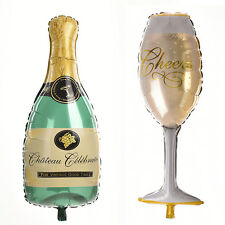 Foil Balloon Champagne Cup Beer Bottle Shape for Birthday Wedding Party TB