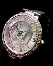Stunning Ladies Women's Chanel Wording Watch, Rhinestones, Mother Of Pearl Dial