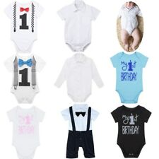 Baby Boys Newborn Infant Overalls Romper Shorts Bodysuit Cotton Outfit Clothing