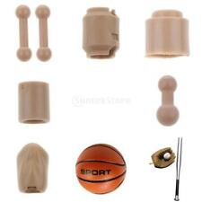 "1/6 Head Feet Connetor Body Part for 12"" Hot Toys Dragon Action Figure Accessory"