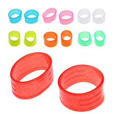 2Pc 7Colors Racket Handle Rubber Ring Tennis Racquet Band Overgrip Protector