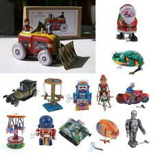 Classic Wind Up Tin Toys Santa Claus/Frog/Carousel/Robot Model Home Decor Favour