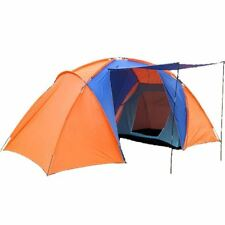 New Style Orange Color Big Size Double Layer Two 4 Person Large Camping Tent