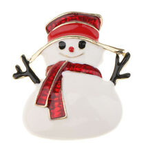 Fancy Christmas Snowman Pins Brooches Badge Santa Claus Kids Girl Boy Gifts
