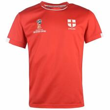FIFA World Cup 2018 England T-Shirt Mens Red Football Soccer Tee Shirt