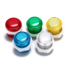 1x 24mm led illuminated 5v push buttons built-in switch for arcade joyst Ws