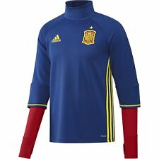 adidas Spain FEF Training Top Mens Blue/Red Football Soccer Sweatshirt Shirt