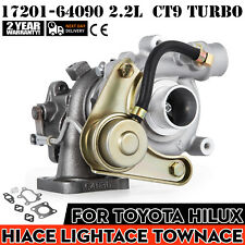 New CT9 For Toyota Hiace Light TownAce Hilux 2.2L 2LT 17201-64090 Turbo Each
