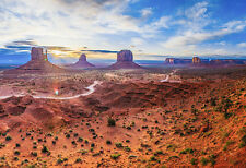 Beautiful Monument Valley Sunset - Landscape Poster - Photo Print - Scenic Art