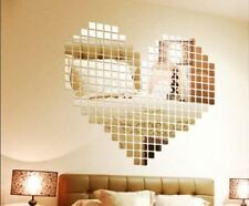 100 Pcs/set 2*2CM Acrylic Material DIY Mirror Wall Sticker For Home Decoration
