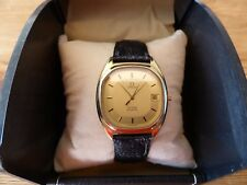 Vintage Omega DeVille 1332 gold plated Gents wristwatch, for repair.