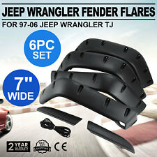 Flat Fender Flares Fits 97-06 Jeep Wrangler TJ Flat Style 7