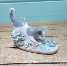 Lladro Cat Figure With Frog