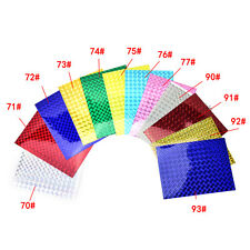4X 10cm X 20cm Holographic Adhesive Film Flash Tape For Lure Making Fly Tying CN