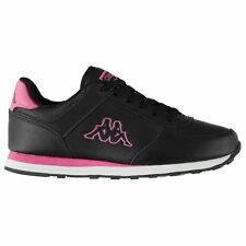 Kappa Persaro DLX Trainers Womens Black/Purple Sports Trainers Sneakers