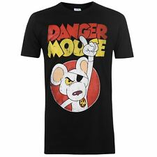 Danger Mouse To the Rescue T-Shirt Mens Black Tee Shirt Tshirt Top