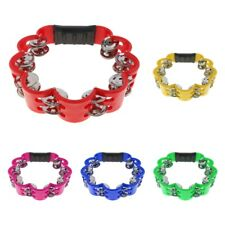 Handheld Tambourine Drum Rattle Kid Musical Educational Toy Percussion Party KTV