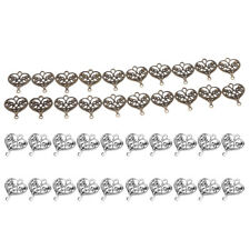 20x Filigree Hollow Out Love Heart Charms DIY Crafts 20x18mm Pendants Beads