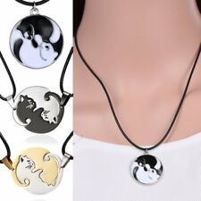 Stainless Steel Women Men Animal Cat Couple Necklaces Pendant Chain Jewelry Gift