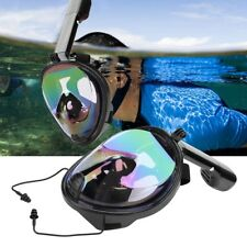 Full Face Diving Mask 180 View Snorkel Panoramic Scuba Diving Mask + GoPro Mount