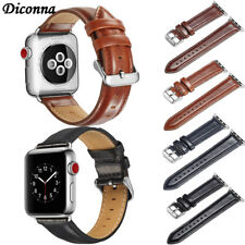 38/42/44mm Genuine Leather iWatch Band Men Casual Strap For Apple Watch 4 3 2 1
