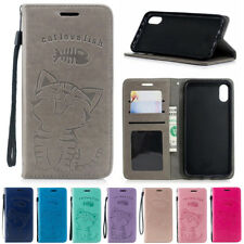 For iPhone SE XR XS Max 6S 7 8 Plus Leather Magnetic Flip Card Wallet Case Cover