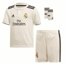 Adidas Football Soccer Real Madrid CF Kids Childrens Home Mini Kit Set 2018 2019