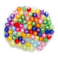Random Mixed Acrylic Square Shaped Spacer Beads Jewelry Making Findings 8-20mm