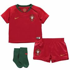 Nike Portugal Home Baby Kit 2018 Infants Red Football Soccer Top Shirt Strip