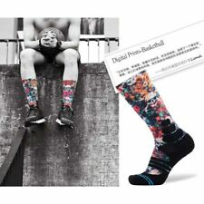 Mens Womens Graffiti Basketball Ankle Socks Coolmax Running Prints Sports Socks