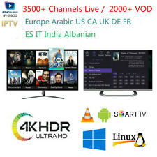 IPTV Subscription 3500+ Channels &VOD EU Arabic US UK IT CA Smart Android IOS