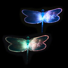 Solar Power Dragonfly Garden Stake Lamp Landscape Color Change Yard Light B9L9