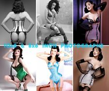 Dita Von Teese - 8x6 & 10x8 inch Photo's #m01 in Corsets & Seamed Suspenders