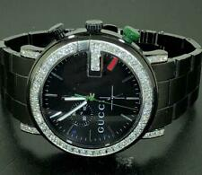 8327f5ac2e7 GUCCI MENS 101M CHRONOGRAPH PVD BLACK DIAL DIAMOND WATCH