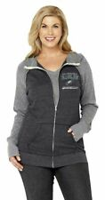NFL Philadelphia Eagles Womens Curvy Triblend Color Full Zip Hoodie Plus Sizes