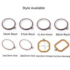 Wooden Plastic Frame Cross Stitch Machine Embroidery Hoop Ring Sewing 8 Size