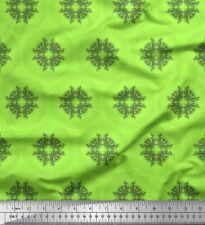 Soimoi Fabric Leaves Wreath & Floral Printed Craft Fabric by the Yard - FL-1232H
