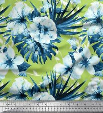 Soimoi Fabric Leaves & Floral Printed Craft Fabric by the Yard - FL-1519E