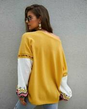 Long Sleeve Tops Knit Shirt Knitted Womens Jumper Pullover Loose Sweater