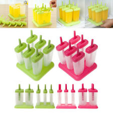 6 Cell Frozen Ice Cream DIY Pop Mold Popsicle Maker Lolly Mould Tray Pan H5I9U