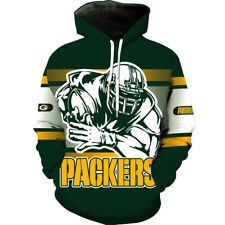 Green Bay Packers Hoodie Hooded Pullover Football Team Coat Fans Gift NEW Design