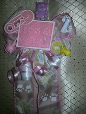 Baby shower corsage It's a girl boy ur choice pink blue