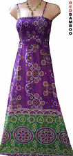 Purple Ethnic Summer Maxi Beach Dress Size 10 12 14 16